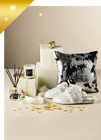 Treat her to our fabulous range of candles, cushions and jewellery