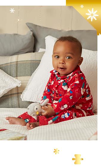 Shop red Christmas pyjamas for baby