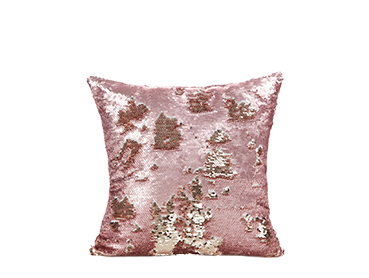 Accent your living room with shimmering cushions and ornaments from the collection