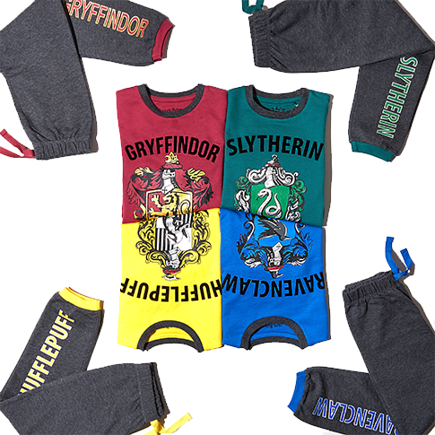 Show your support for your house with Gryffindor, Hufflepuff, Ravenclaw and Slytherin pyjamas