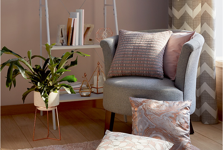 Add plenty of textures to your home for a cosy finish