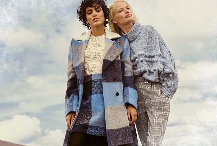 Our Winter Frost trend features padded coats, textured jackets and cosy knitwear