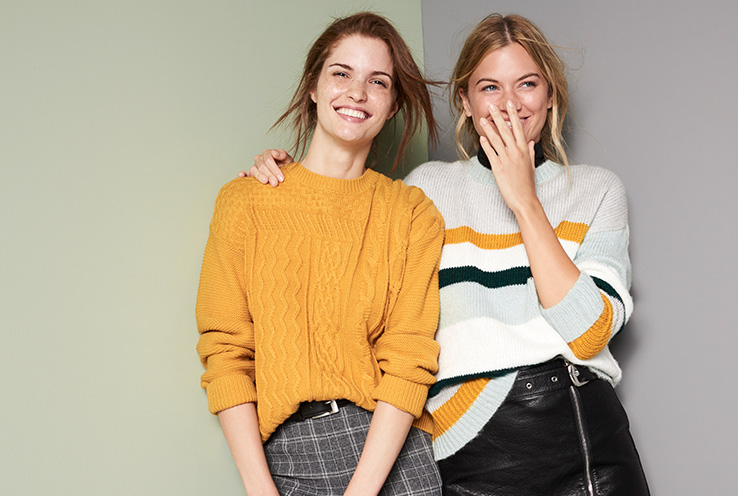 On the hunt for new knitwear? Cosy up with chunky textures, rainbow colours and embellished creations now.
