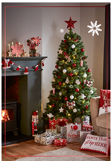 Get ready for Santa's arrival with our Christmas collection. Let's start by picking the tree and decorations...