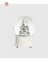 Spread the magic with a Christmas tree snow globe