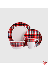 Shop tartan print dinner set
