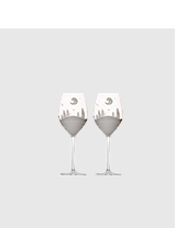 Shop snow scene wine glasses