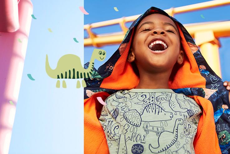Explore our collection of clothing for kids this SS19