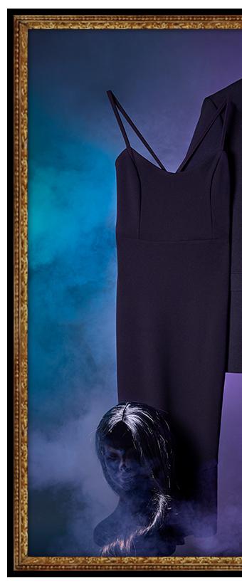Floating black dress