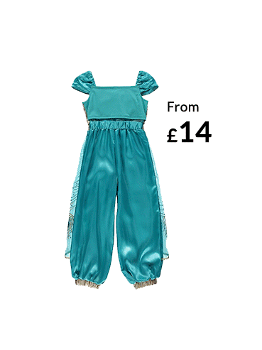 Your little one can become Princess Jasmine with this Disney fancy dress costume