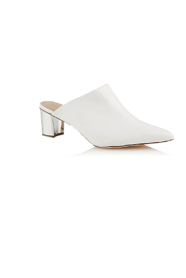 Easy to slip on and style, elevate your look with a pair of white heels or sandals