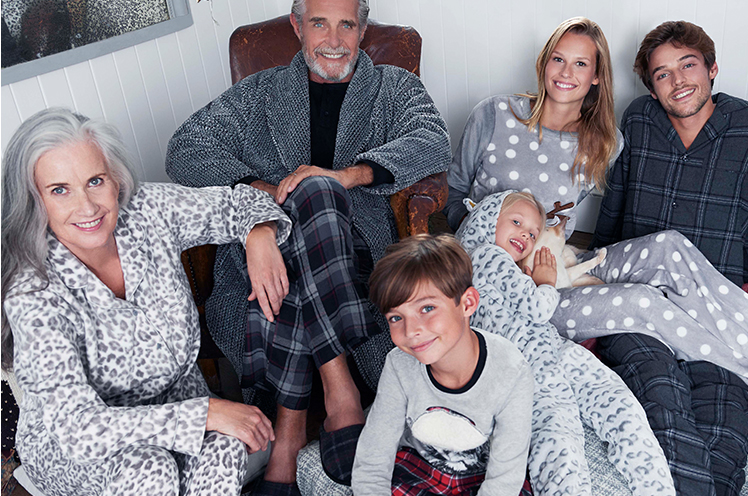 Snuggle up this winter with festive nightwear for you and the family.