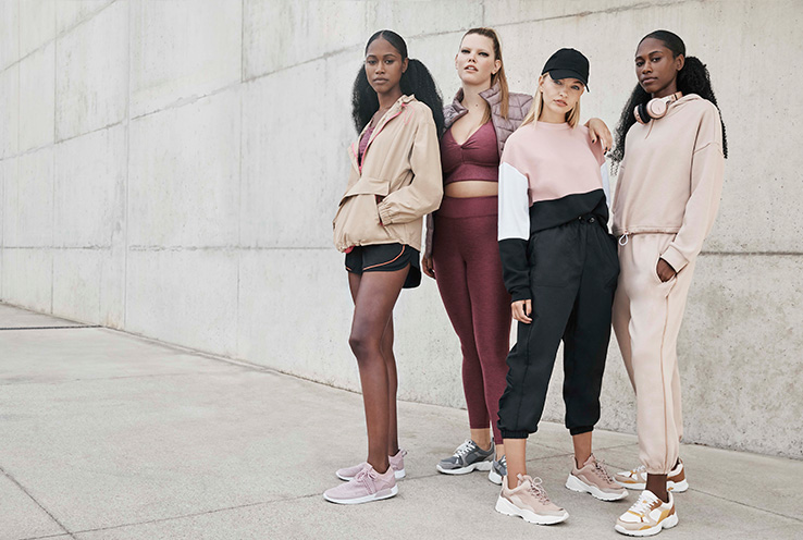 Group of women wearing George sportswear