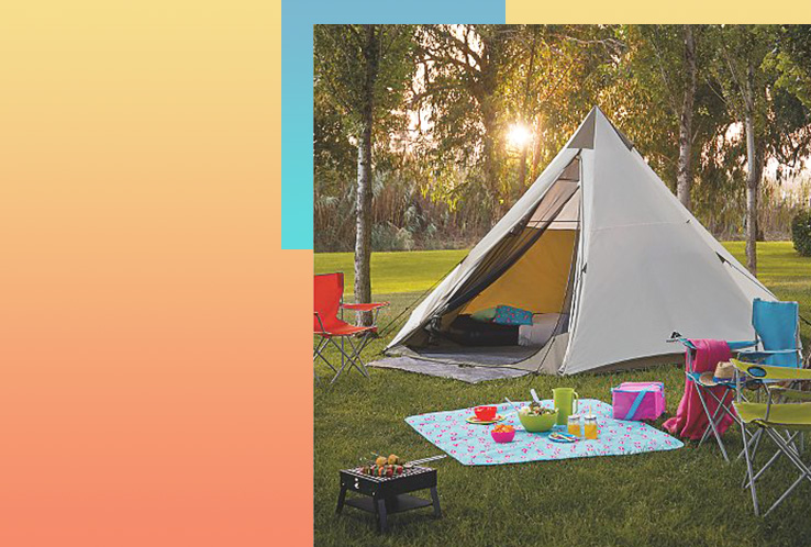 Camp out under the stars with a tent