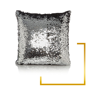 This sequin cushion is a sparkly delight