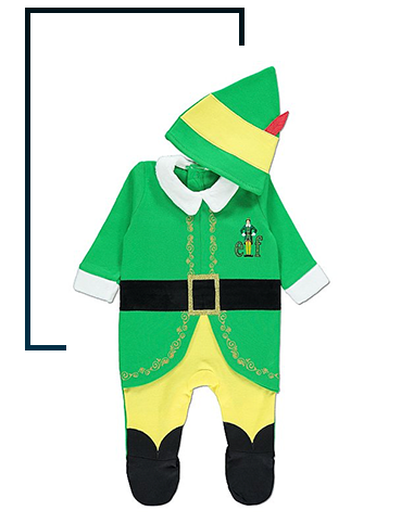 Help your little one spread Christmas cheer with this Buddy the Elf all in one