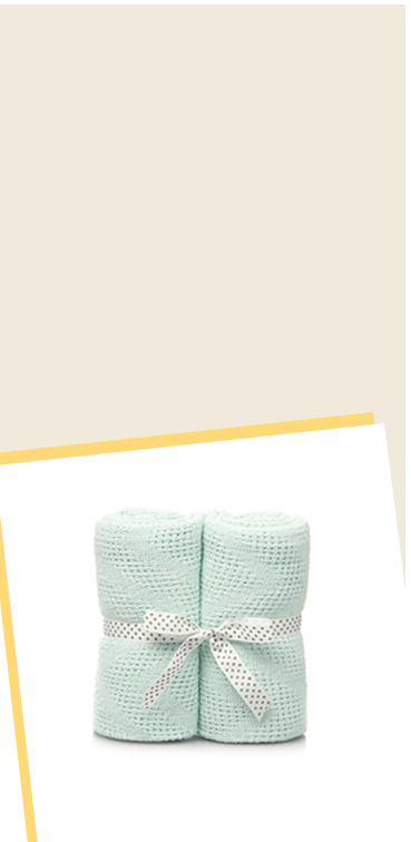 Made from 100% cotton, this comfy two-pack of shawls makes a soft extra layer for your little one's cot, pushchair or pram