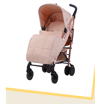 This My Babiie Billie Faiers Rose Blush Stroller is made with lightweight aluminium that's super manoeuvrable