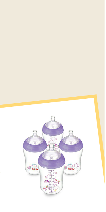 Combine breast and bottle feeding with these bottles, made with breast-like shaped teat that encourages easy latch-on