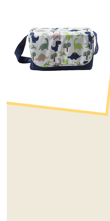 This My Babiie Katie Piper dinosaurs changing bag has plenty of room for nappies, wipes and more