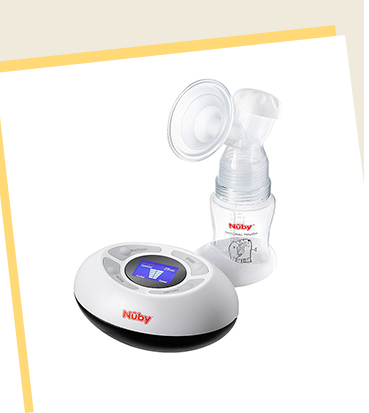 This Nuby Natural Touch Digital Breast Pump has a digital control panel with 5 settings for both suction and speed