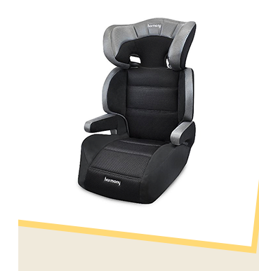 This Harmony Group 23 Dreamtime Deluxe Comfort Booster has ultra-plush fabrics and 7 adjustable head height positions