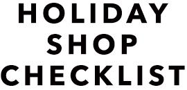 Holiday Shop Checklist