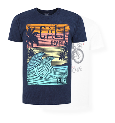 Explore our new range of printed t-shirts