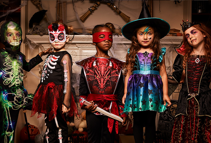 This year's spookiest Halloween costumes are inspired by Black Panther, the Avengers, Disney Princesses and the world of Harry Potter.