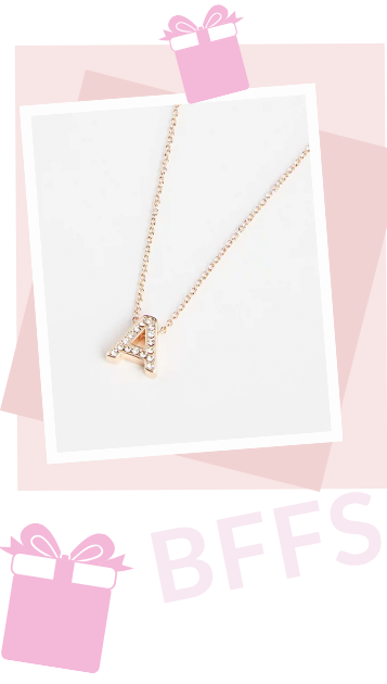Our rose gold plated initial necklaces make a thoughtful gift