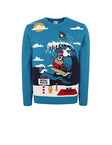 Shop surfing Santa jumper