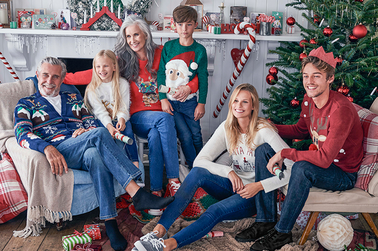 Show off your humorous side with fun Christmas jumpers.