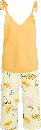 Created in a vibrant sunshine yellow, these pyjamas are just perfect for lazy days