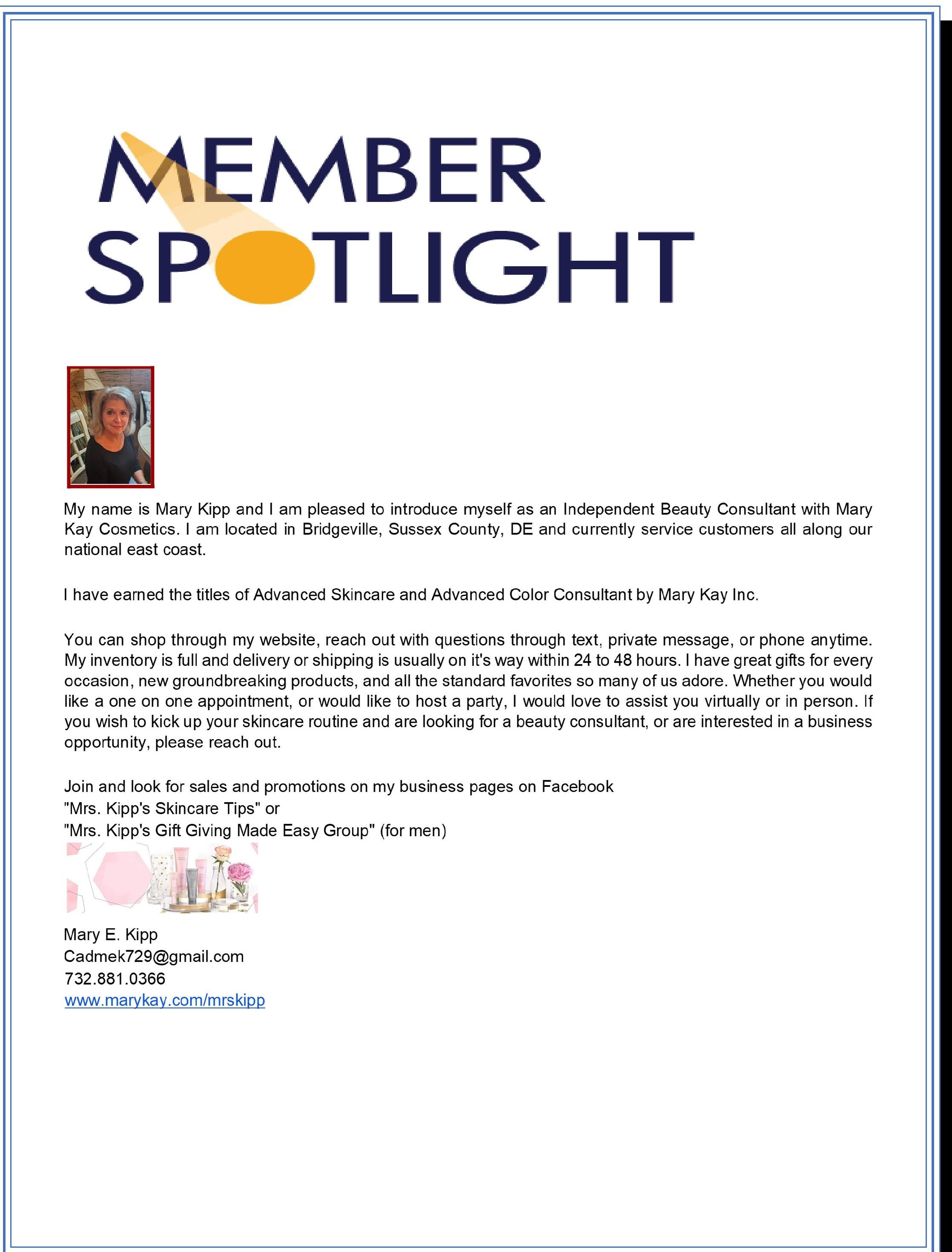 member spotlight mary kipp-1
