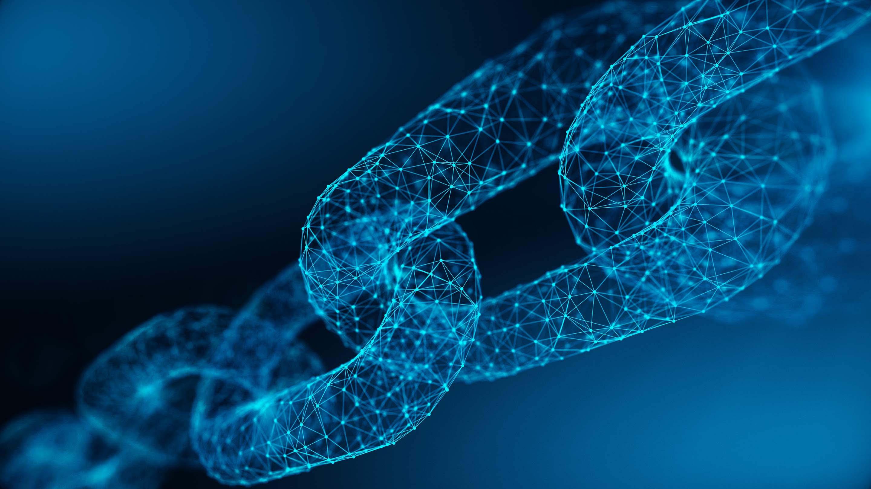 Una ilustración de una cadena formada por puntos de datos