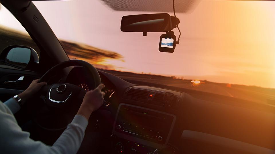 Video camera in car
