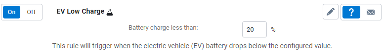 EV low charge