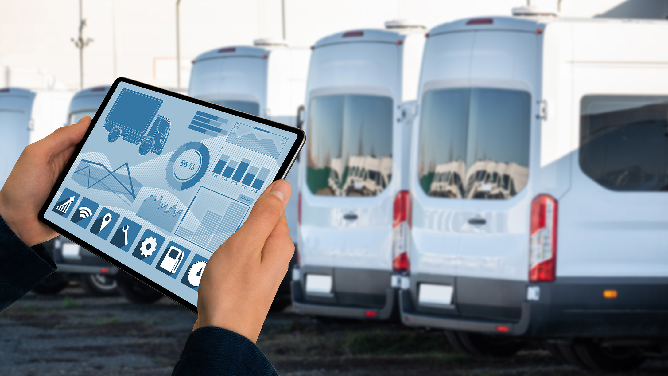 A screen showing fleet details