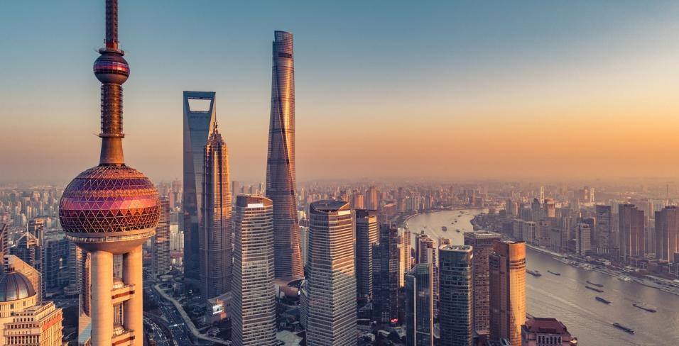 Chinese city skyline