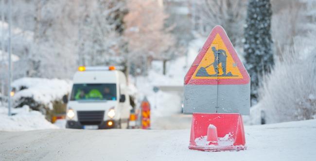 Winter road construction