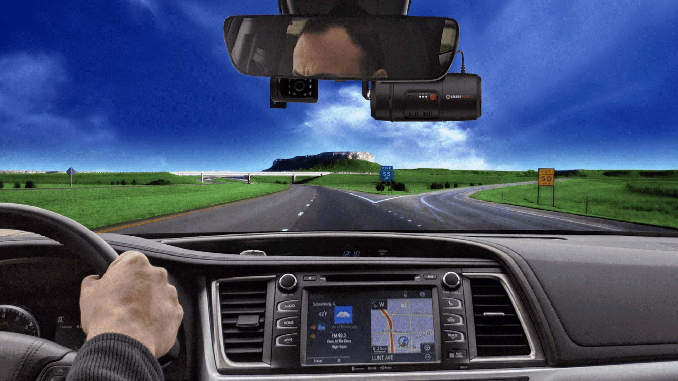 Driver POV driving down the road