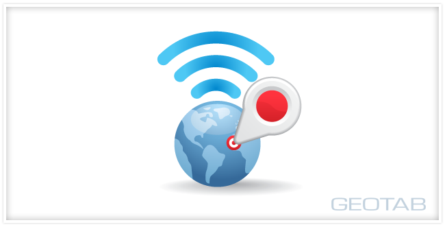 animated globe with location point and wifi signal