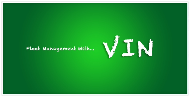 Fleet management with ... VIN and a green background