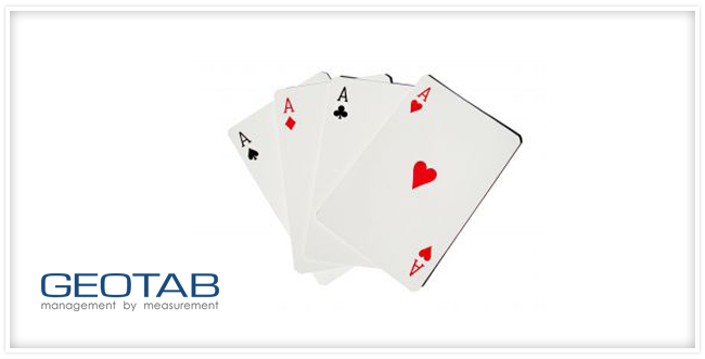 A card hand with 4 aces