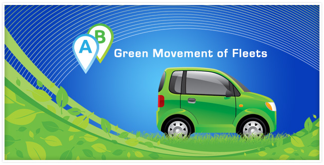 A green car on grass with green leaves swooping under it.