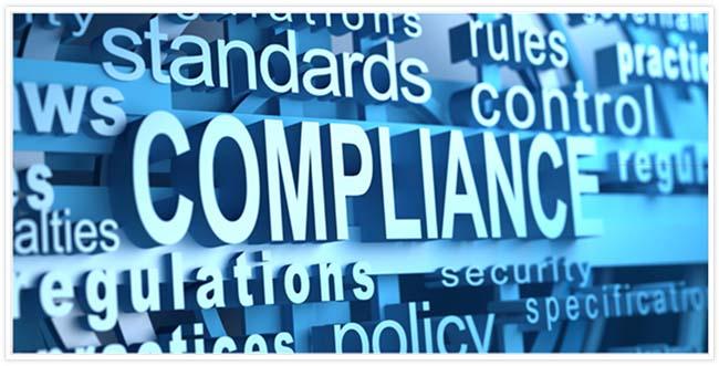 """Bild mit dem Wort """"Compliance""""."""
