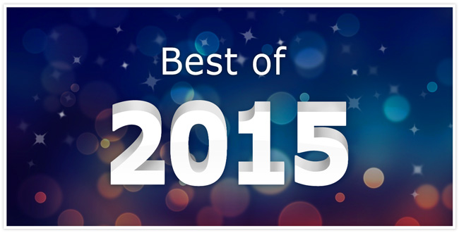 """Best of 2015"" in white writing with a blue to red gradient background"
