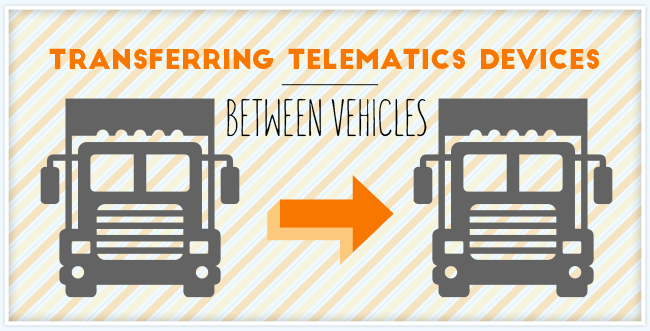 Graphic of two transport trucks with an orange arrow pointing to the right in between them