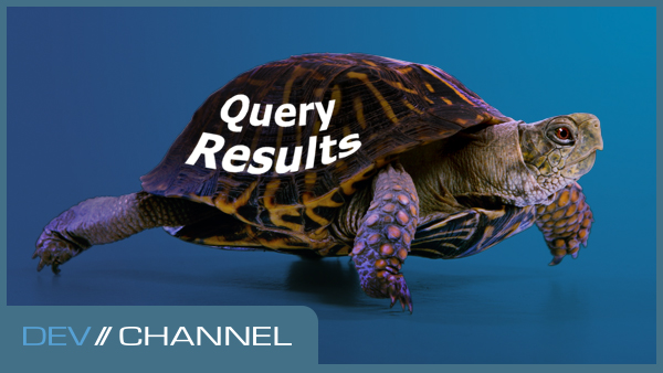 "Turtle with the words ""Query Results"" on its shell."