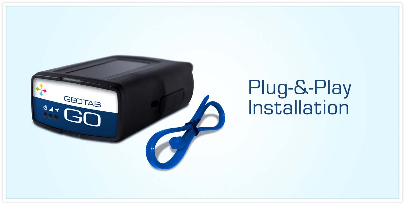 GO device on a light blue background